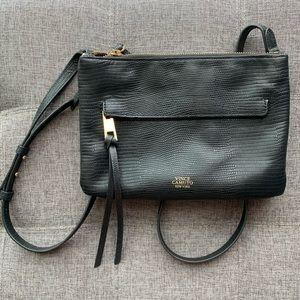 Vince Camuto Black Leather Crossbody Bag.